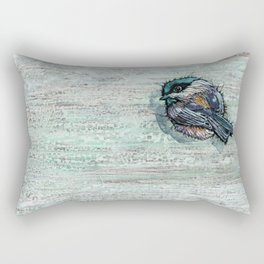 Weathered Chickadees Rectangular Pillow