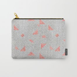 Tangram peach and silver line Carry-All Pouch