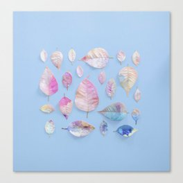 Water Colour Leaves Canvas Print