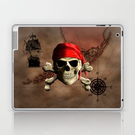 The Jolly Roger Pirate Map Laptop & iPad Skin