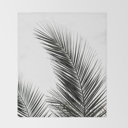 Palm Leaves Throw Blanket