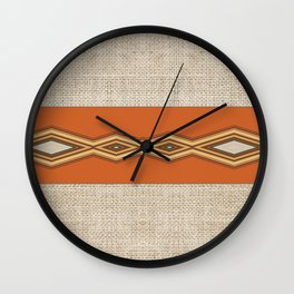 Southwestern Earth Tone Texture Design Wall Clock