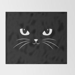 Cute Black Cat Throw Blanket