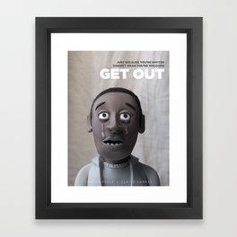 Get Out | Alternative Film Poster Framed Art Print