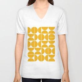 Mid Century Modern Geometric 04 Yellow Unisex V-Neck