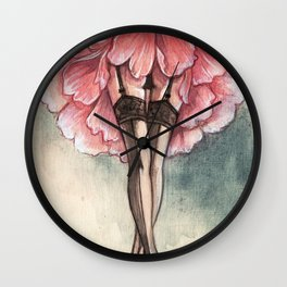 Sexy flower Wall Clock