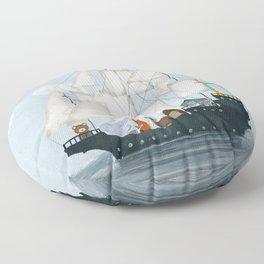 a nautical adventure Floor Pillow