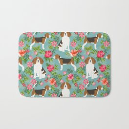 Beagle hawaiian dog pattern tropical pattern cute gifts for dog lover dog breeds Bath Mat