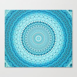Coastal Spray Mandala Canvas Print