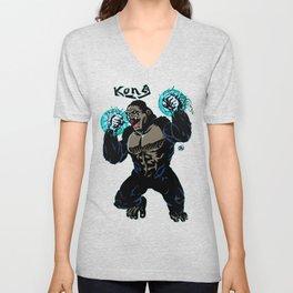 Electric Kong Print FC Unisex V-Neck
