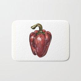Red Bell Pepper Bath Mat