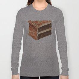 Chocolate Cake Slice Long Sleeve T-shirt