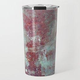 Background. Grunge and rusty metal surface Travel Mug