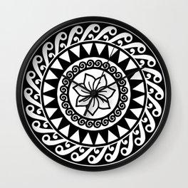 Hibiscus Mandala Wall Clock