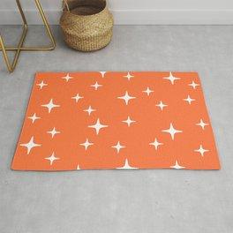 Mid Century Modern Star Pattern 443 Orange Rug