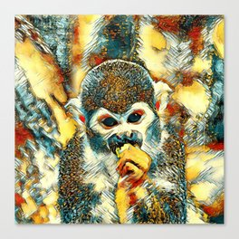AnimalArt_Monkey_20180204_by_JAMColorsSpecial Canvas Print