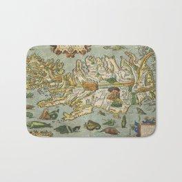 Iceland Map 1590 Bath Mat
