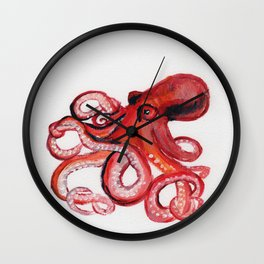 Octopus Portrait Wall Clock