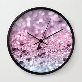 Unicorn Girls Glitter #7 #shiny #pastel #decor #art #society6 Wall Clock