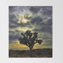 An Evening In The Desert Throw Blanket