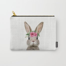 Baby Rabbit with Flower Crown Carry-All Pouch