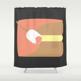 Cake? كيك. Shower Curtain
