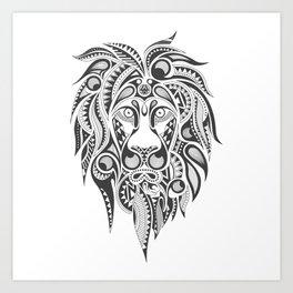 Lion | Abstract Digital Design Art Print