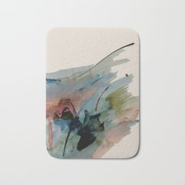 Begin again [2]: an abstract mixed media piece in a variety of colors Bath Mat