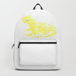 Yellow Frog Artwork Backpack