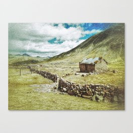 Little House in the Peruvian Andes Canvas Print