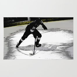 On the Move - Hockey Player Rug
