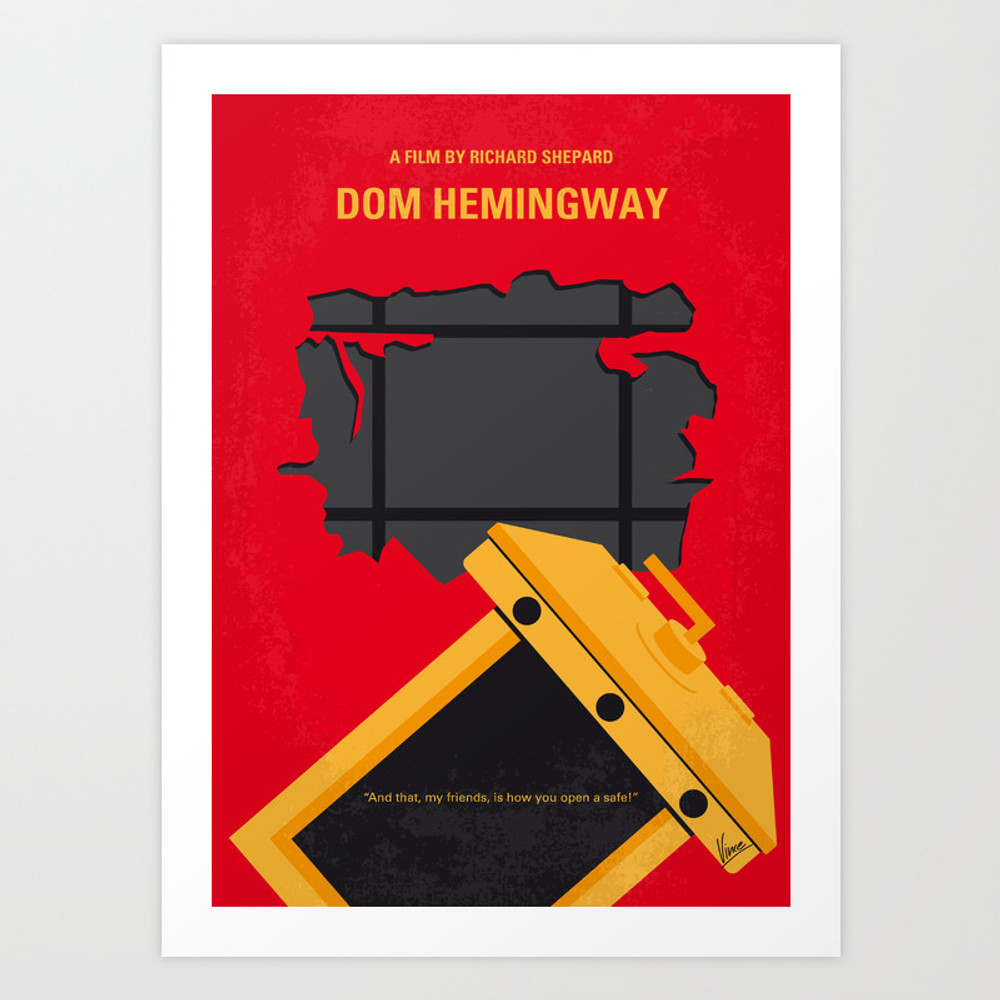 No917 My Dom Hemingway Minimal Movie Poster Art Print by Chungkong PRN8830731