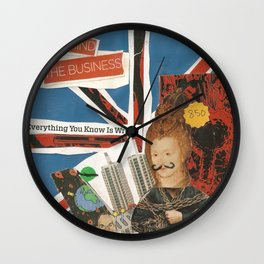 behind the business Wall Clock