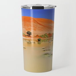 Water in the Namib desert after rain season, Namibia Travel Mug
