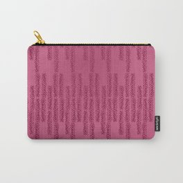 Eye of the Magpie tribal style pattern - raspberry red Carry-All Pouch