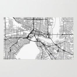 Jacksonville Map White Rug