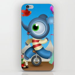 Little Elephant in the circus iPhone Skin