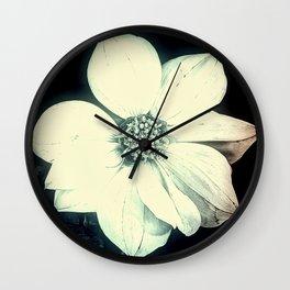 White Dahlia, Christmas Star Wall Clock