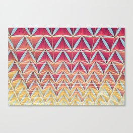 From pink to yellow pattern Canvas Print
