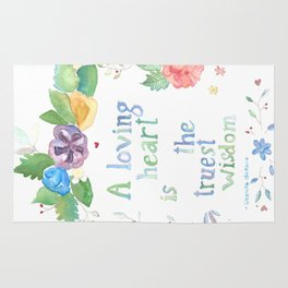 Quote for Life Rug