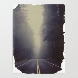 Long Road, Redwoods National Park. Instant Film Poster