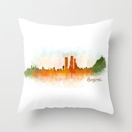 Bogota City Skyline Hq V3 Throw Pillow