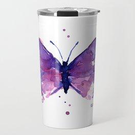 Butterfly Purple Watercolor Animal Travel Mug