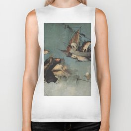 Hieronymus Bosch flying ships and creatures Biker Tank