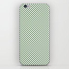 Hippie Green Polka Dots iPhone Skin