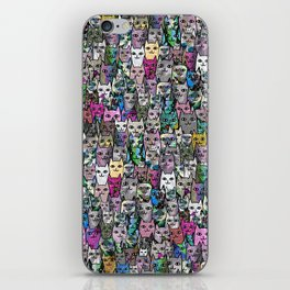 Gemstone Cats CYMK iPhone Skin