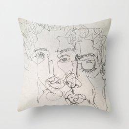 Blind Contour Throw Pillow
