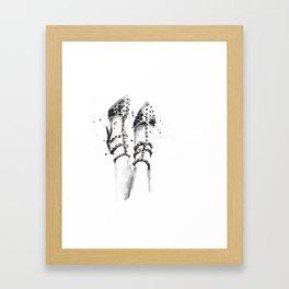 Spiked heels Framed Art Print