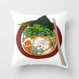 Soy Ramen Noodle Throw Pillow