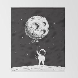 Fly Moon Throw Blanket